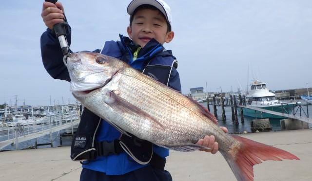 テンヤ真鯛船 4.1kg!