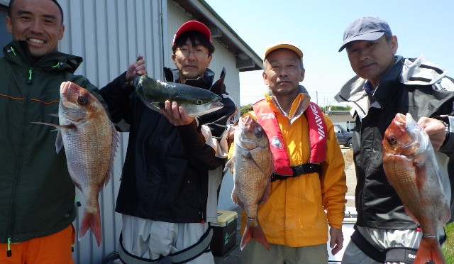 テンヤ真鯛船 4.43kg!