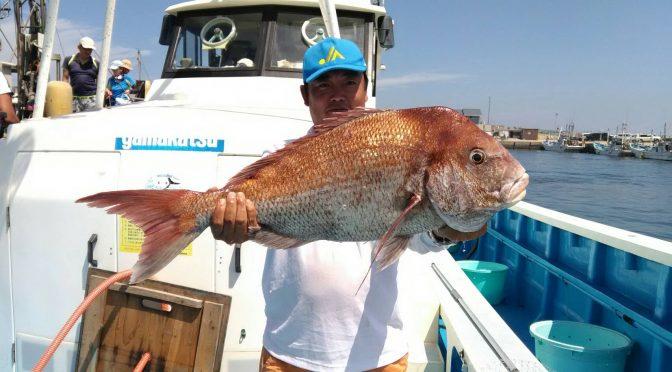 テンヤ真鯛船 大鯛7.21キロ!