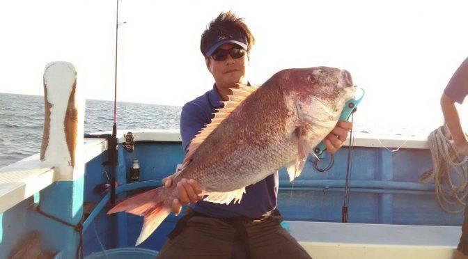 午後テンヤ真鯛船 大鯛5.0キロ!