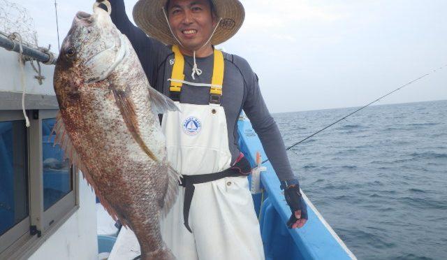 午後テンヤ真鯛船 大鯛5.3キロ!4.3キロ!・・・