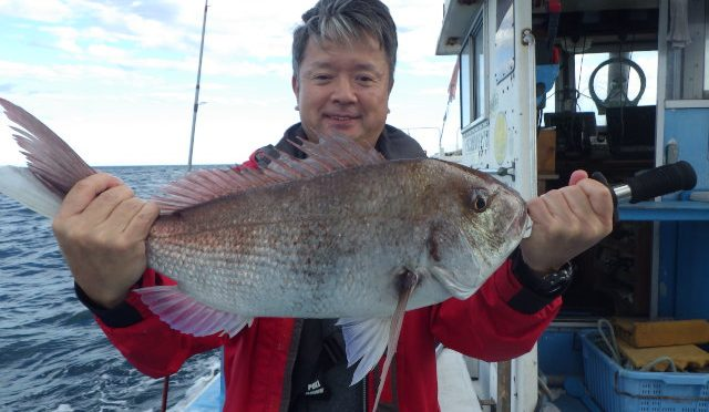 テンヤ真鯛船 中鯛3.3キロ!