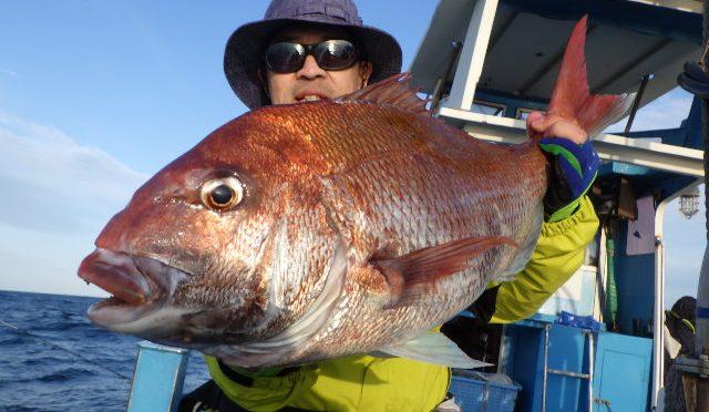 午後テンヤ真鯛船 大鯛4.3キロ!3.0キロ!…