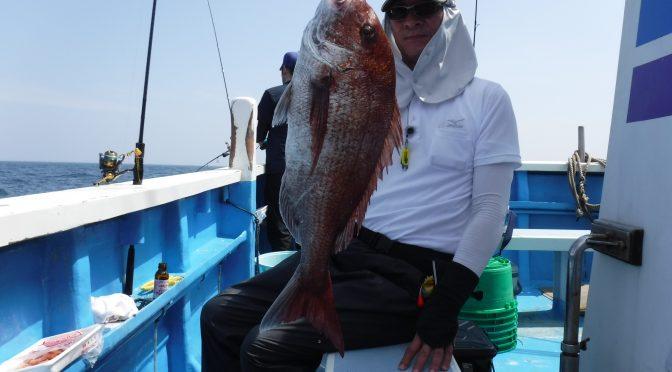 テンヤ真鯛船 中鯛3.2キロ!