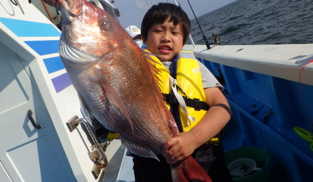 午後テンヤ真鯛船 大鯛5キロ!4.2キロ!