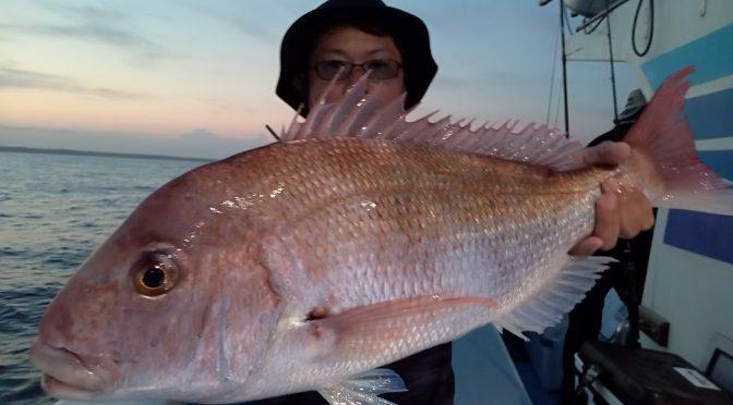 午後テンヤ真鯛船 中鯛3.2キロ3.0キロ!