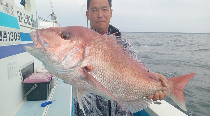 午後テンヤ真鯛船 大鯛5.4キロ!中鯛3.5キロ!